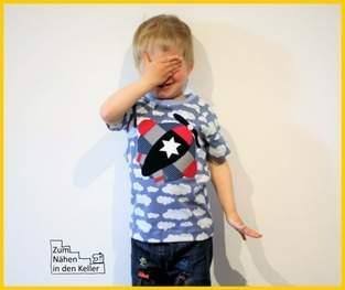 Makerist - Applikation Flugzeug auf Raglanshirt Kids - 1