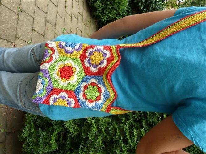 Makerist - Umhängetasche für Kids aus Granny Squares - Häkelprojekte - 2