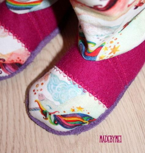 Makerist - Neue Hausschühchen für die Minizuckerzicke - Nähprojekte - 2