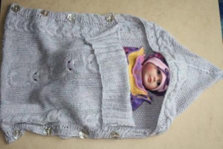 Makerist - Baby Schlafsack aus doppelt genommener  Strumpfwolle für mein Enkelkind  - Strickprojekte - 1