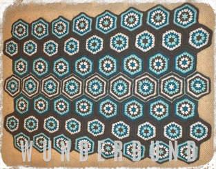 Makerist - Granny Hexagon Babydecke - 1
