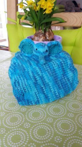 Makerist - Elefantenschnuffeltuch aus Baumwolle für die Kleinen - Strickprojekte - 1