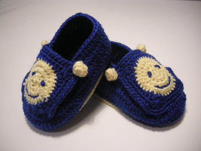Makerist - Smiley-Babyschuhe - Häkelprojekte - 1