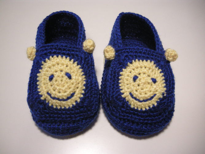 Makerist - Smiley-Babyschuhe - Häkelprojekte - 2