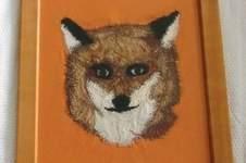 Makerist - Fuchs in Freihandstickerei Batikstoffe auf Jersey Übung zur Resteverwertung - 1