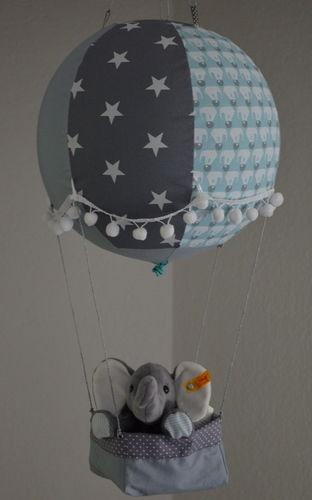 Makerist - Heißluftballon als Kinderzimmerdeko für ein Baby - Nähprojekte - 1