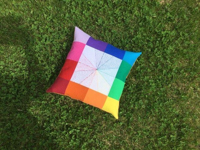 Makerist - Freihand Quilten lernen mit Videokurs, Kissenbezug mit Matrix - Patchwork-Projekte - 2