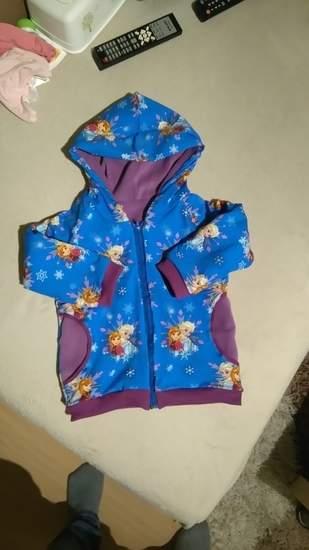 Makerist - Übergangsjacke aus Baumwolljersey, innen Fleece für meine Tochter - 1