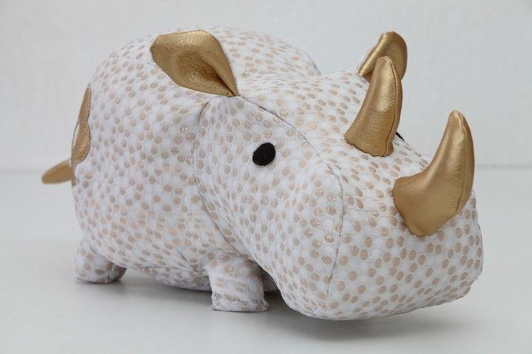 Makerist - Rhinocéros réalisé avec le patron DIY Fluffies - Créations de couture - 1