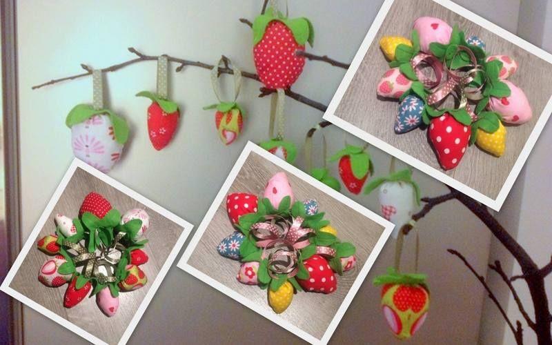 Makerist - Osterdeko - Erdbeeren - Nähprojekte - 1