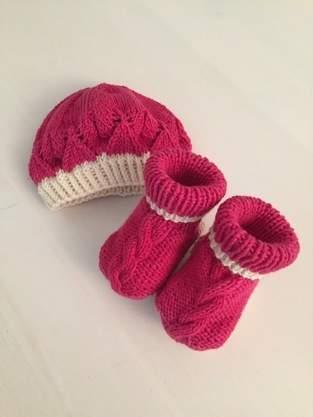 Mütze und Schuhe aus Merino-Cotton-mix
