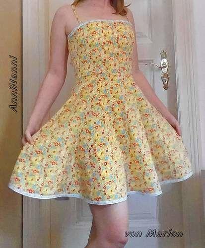 Makerist - AnniNanni-Kleid mit Spaghettiträgern aus Baumwoll-Gewebe - Nähprojekte - 2