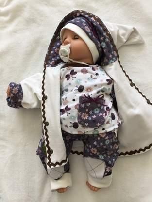 Makerist - Babyset kleine Blütenfee aus Baumwolljersey für Mädchen in Größe 62/68.  - 1