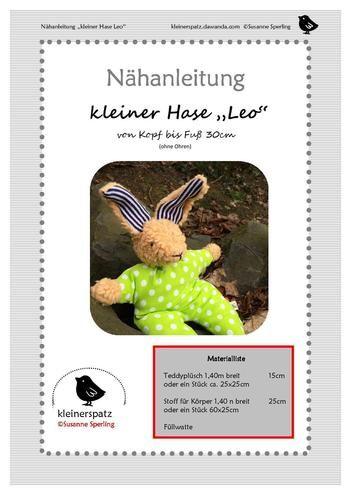 Makerist - kleiner Hase aus Ökofell  - Nähprojekte - 2