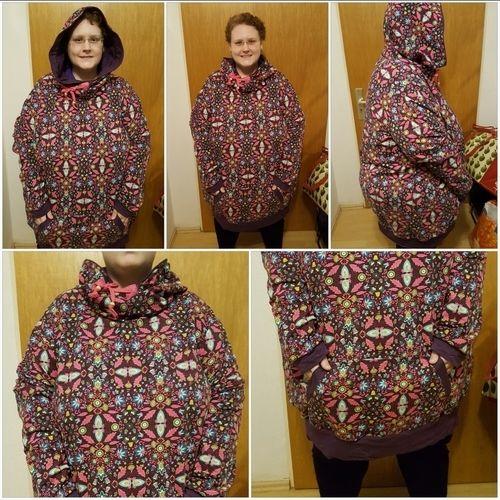 Makerist - Mein erster Hoodie in Übergröße für XXXL Frauen die trauen auch mal Farbe zu bekennen nach dem Ebook Hoodie JOLINE XS-XXXL von DreieM's - Nähprojekte - 1