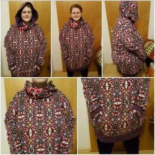 Makerist - Mein erster Hoodie in Übergröße für XXXL Frauen die trauen auch mal Farbe zu bekennen nach dem Ebook Hoodie JOLINE XS-XXXL von DreieM's - 1