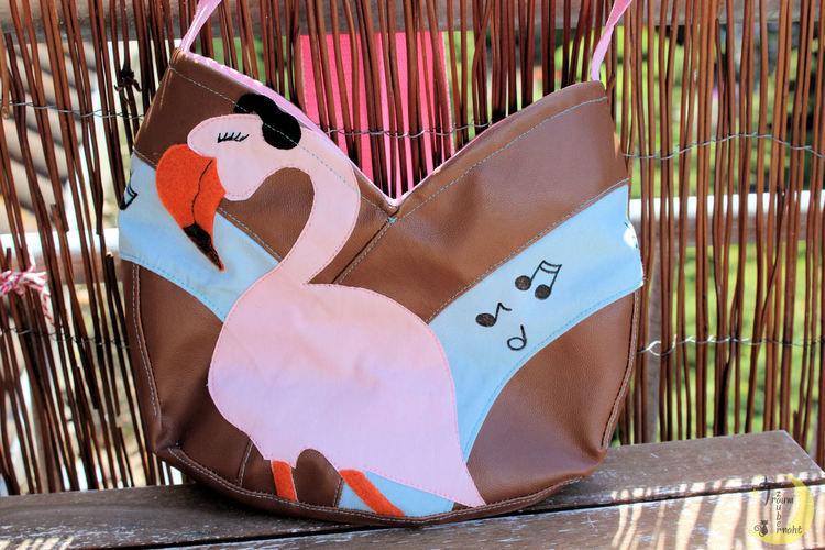 Makerist - Eine Tulipa mit rockendem Flamingo - Nähprojekte - 1