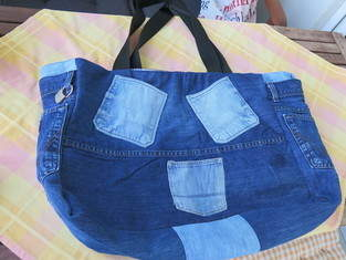 Tasche aus alter Jeans