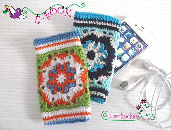 Makerist - Ebook i-Phone / i-Pot Tasche aus Granny Squares - Häkelprojekte - 1