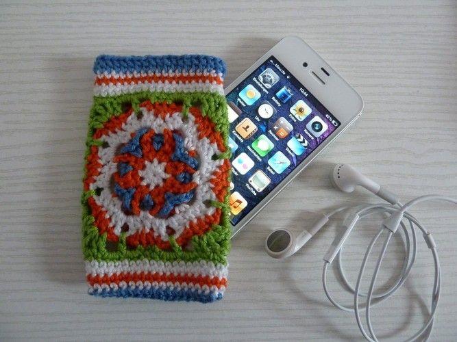 Makerist - Ebook i-Phone / i-Pot Tasche aus Granny Squares - Häkelprojekte - 3