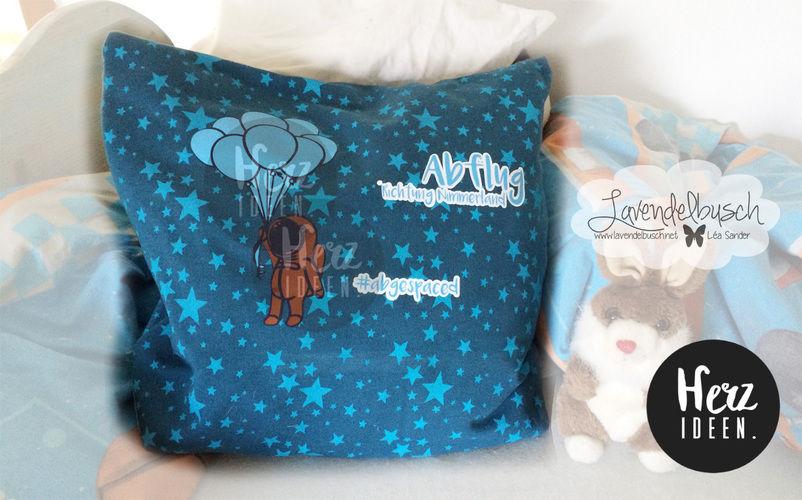 Makerist - Kissenbezug für den Raumfahrer Fan - Textilgestaltung - 1