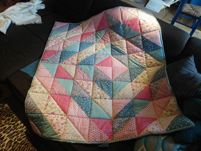 Makerist - Erste Quiltdecke für Omas Enkel - Patchwork-Projekte - 1