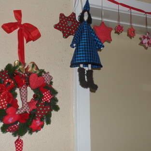 Weihnachtliches an der Tür