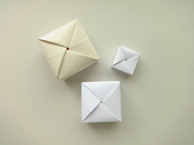 Makerist - ORIGAMI SQUARE BOX - DIY Showcase - 3