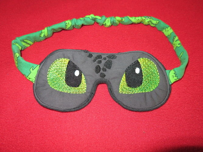 Makerist - Dinoschlafbrille - Nähprojekte - 1
