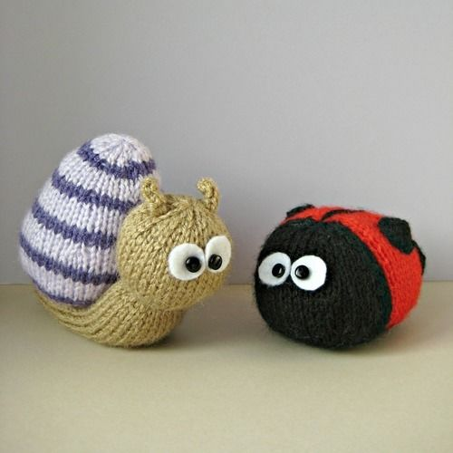 Makerist - Sammy Snail and Lil Ladybug - Knitting Showcase - 3