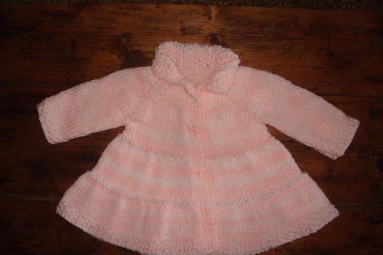 Makerist - Manteau rose poudré - Créations de tricot - 1