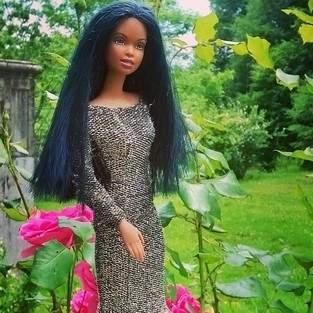 Robe de soirée pour poupée Barbie