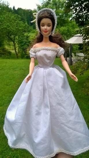 """Robe """"Autant en emporte le vent"""" pour poupée Barbie"""