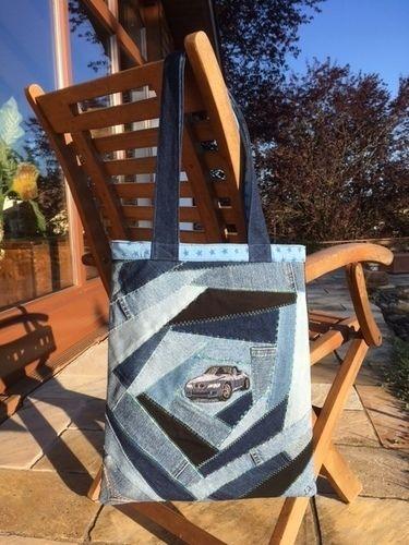 Makerist - Crazy Patchwork Jeans-Tasche - Patchwork-Projekte - 1