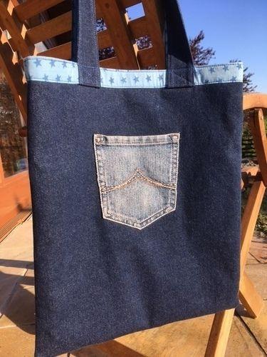Makerist - Crazy Patchwork Jeans-Tasche - Patchwork-Projekte - 2
