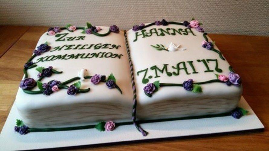 Makerist - Kommunionstorte in Grün und Violett - Torten, Cake Pops und Cupcakes - 1