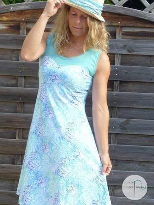 Mein AnniNanni Herzkleid aus dem wundervollen Jersey Meeresduft