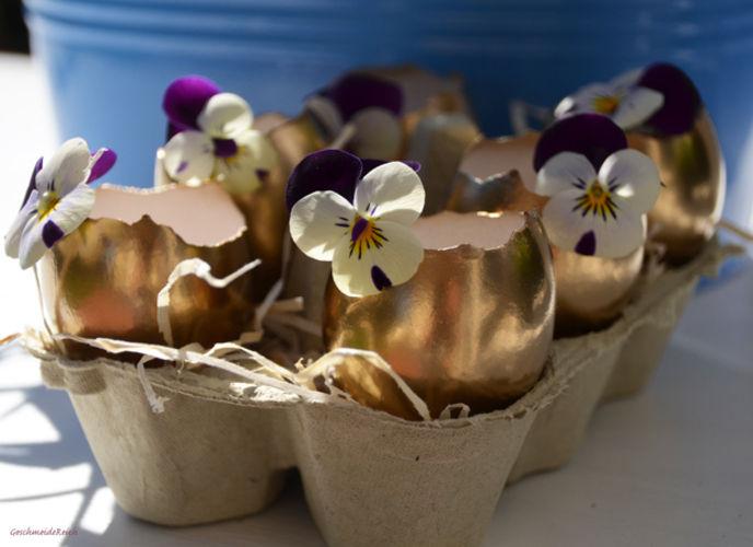 Makerist - Mini Oster-Eier Vasen in gold - DIY-Projekte - 1
