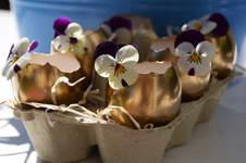 Makerist - Mini Oster-Eier Vasen in gold - 1