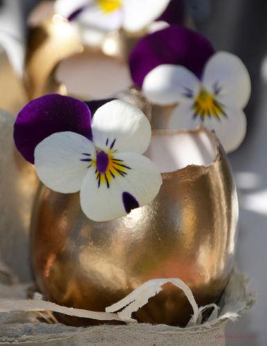 Makerist - Mini Oster-Eier Vasen in gold - DIY-Projekte - 2