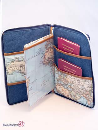 Makerist - Reiseetui aus Kork, Jeans und Dekostoff - 1