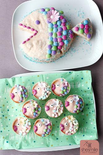 Ein Fischkuchen Zur Taufe Von Shesmile Torten Cake Pops