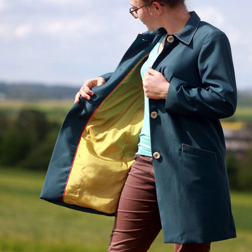Makerist - Wetterfester Mantel aus imprägniertem Stoff - Nähprojekte - 1