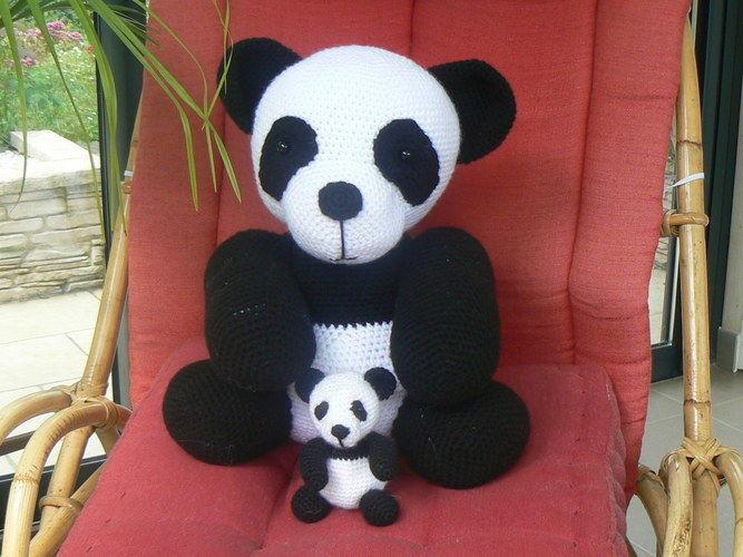 Makerist - Maman Panda et son bébé - Créations de crochet - 1
