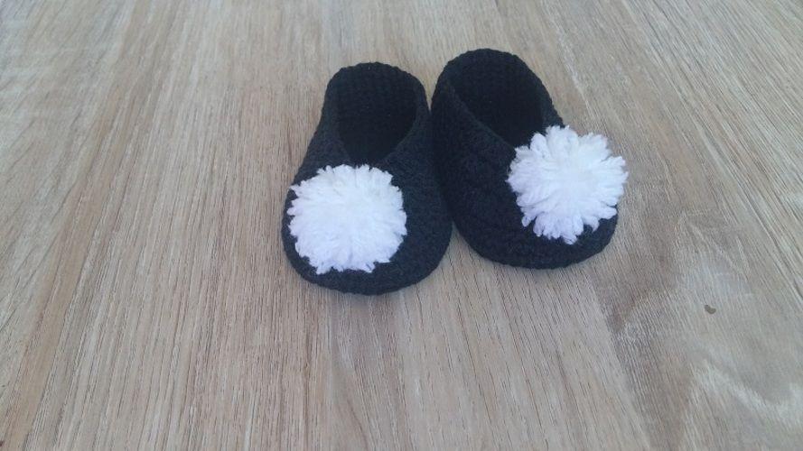 Makerist - Les chaussons de mon ami Pierrot 0/3mois en acrylique et coton - Créations de crochet - 1