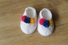 Makerist - Chaussons bébé 3 pompons - 0/3mois - 1