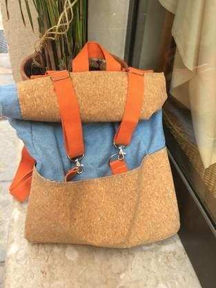 patron sac à dos toucan bi-matière liège et jean!