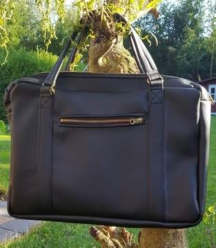 Notebooktasche als Handtasche genäht