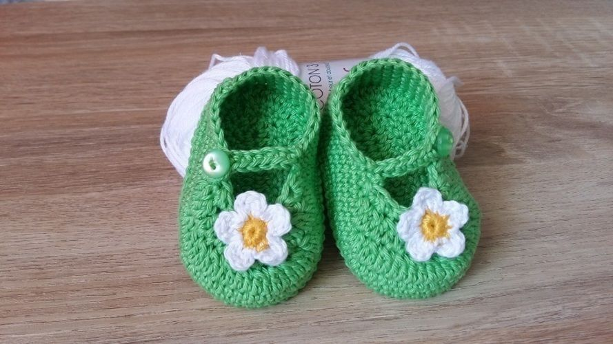Makerist - Petites ballerines printanières - taille 0/3mois - Créations de crochet - 1