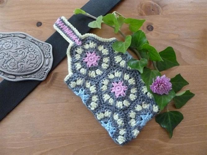 Makerist - Gürtel Tasche aus Granny Square - Häkelprojekte - 2